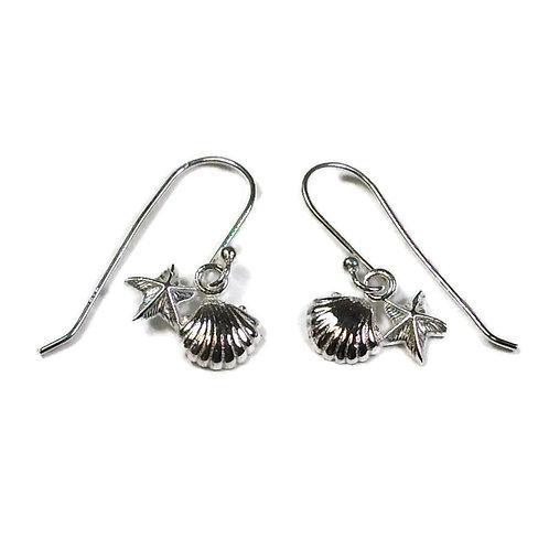 Silver shell and starfish drops
