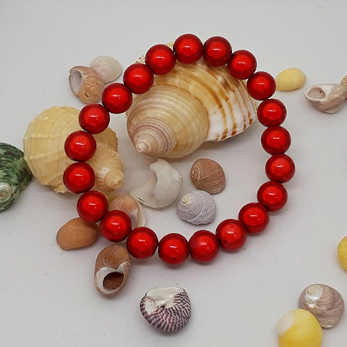 Red miracle bead bracelet
