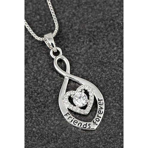 """Heart necklace """"friends forever"""""""