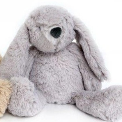 grey fluffy rabbit doorstops