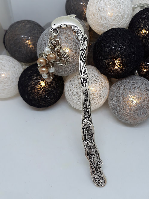 Dolphin bookmark with beads