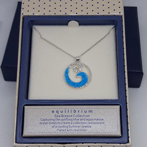 Sea breeze wave necklace
