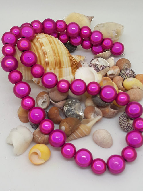 Pink miracle bead necklace