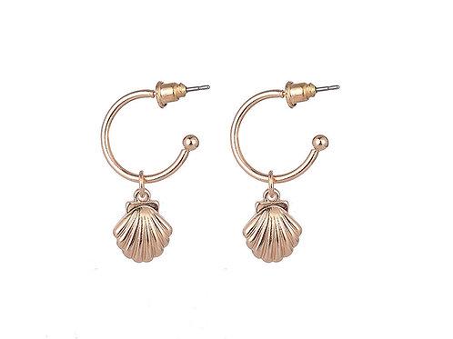 Seashell hoops