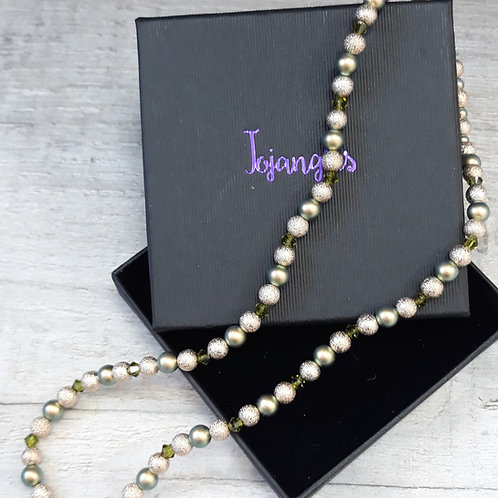 Swarovski pearls and crystal necklace