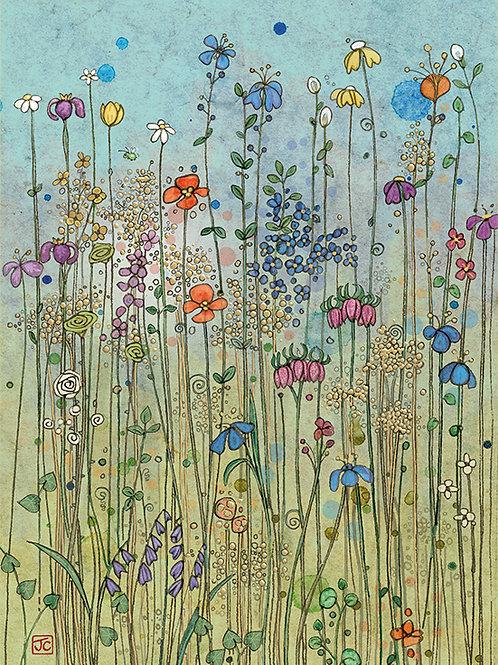 Meadow flowers card
