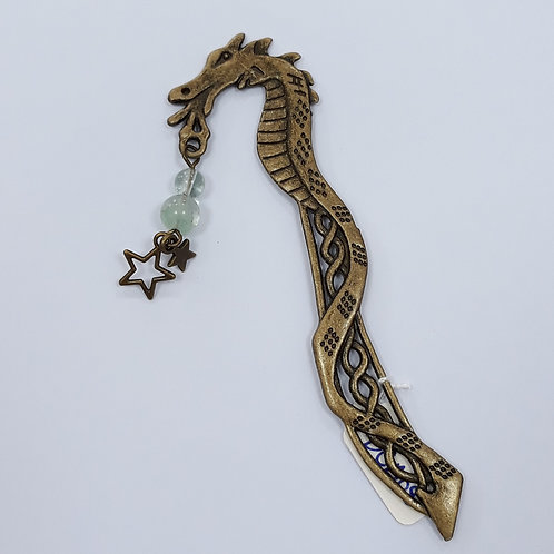 Dragon Bookmark with beads and stars