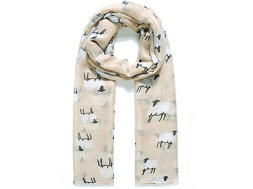 Natural BaaBaa sheep scarf