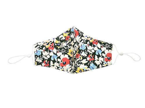 Abstract floral 100% cotton facemask