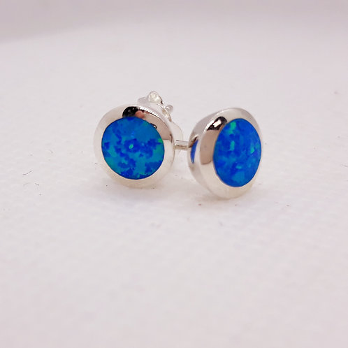 Sterling silver created opal studs