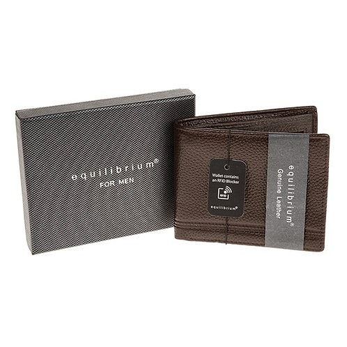 Brown leather wallet from Equilibrium