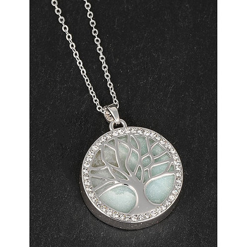 Tree of life necklace with Amazonite