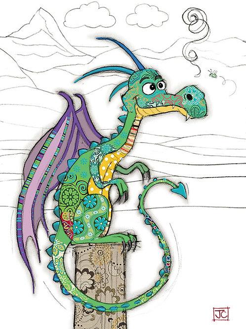 Duncan dragon card from Bug Art