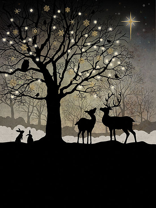 Christmas woodland card