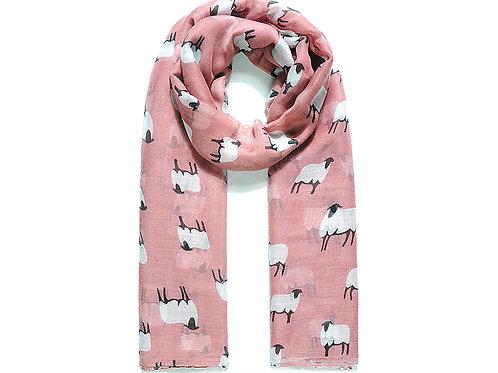 Pink BaaBaa sheep scarf