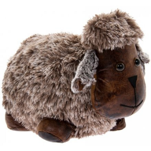 Faux leather sheep Doorstop