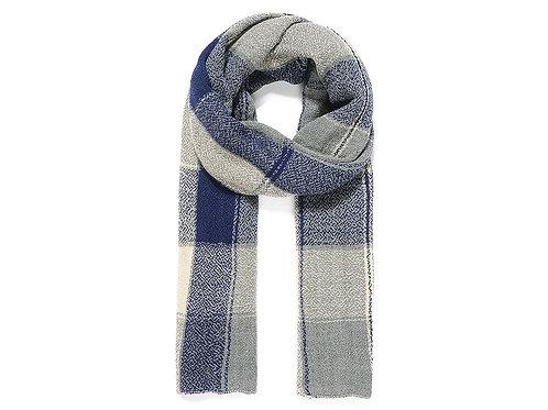 Blue/grey check scarf