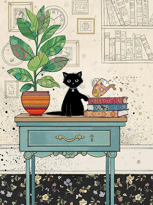 Kitty on table card