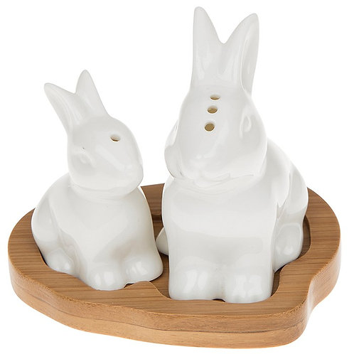 Cruet set, rabbits