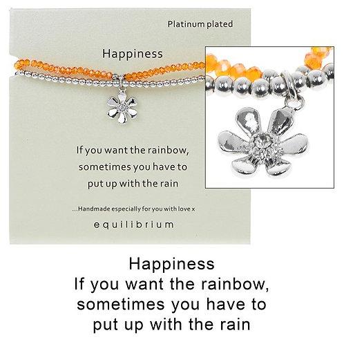 Beaded happiness bracelet