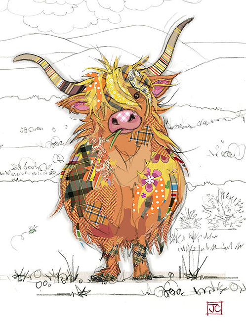 Hamish highland cow card from BugArt