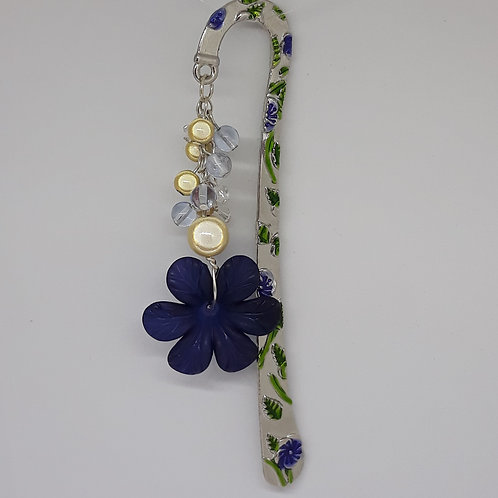 Enamel bookmark with miracle beads