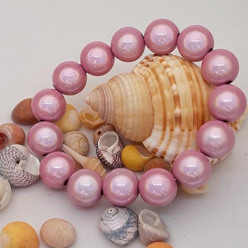 Pale pink miracle bead bracelet