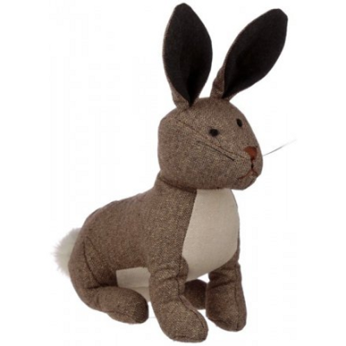 Brown rabbit doorstop