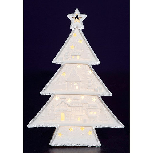 Christmas glow porcelain tree ornament