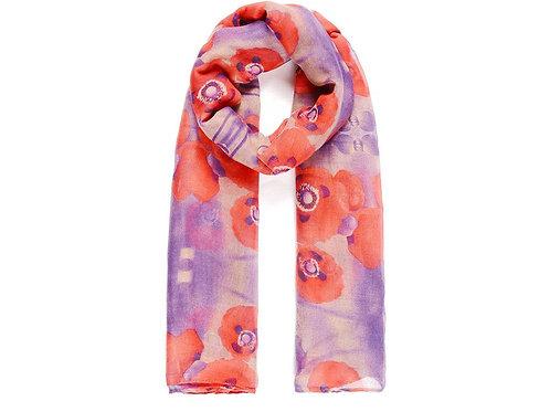 Poppy print scarf