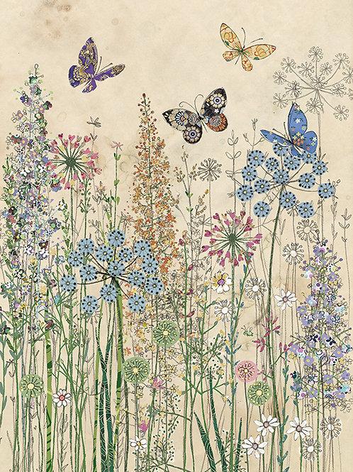 Butterfly grass card