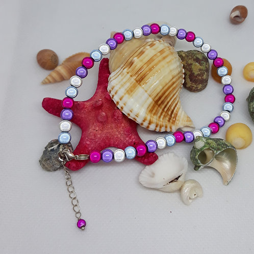 Miracle bead anklet with chain