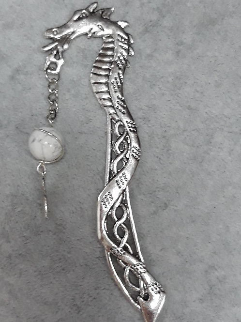 Dragon Bookmark with wing charm