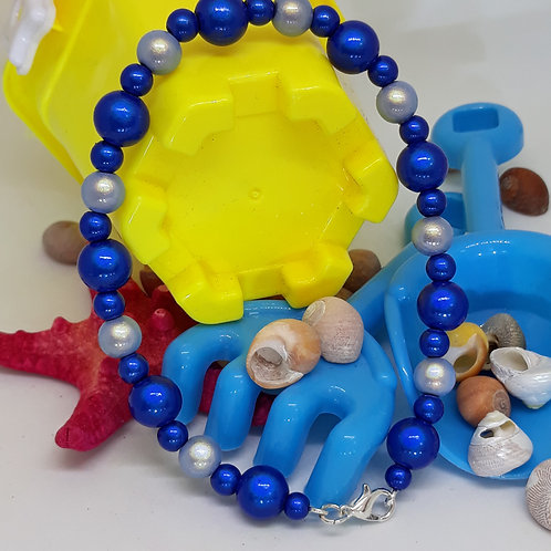 Blue miracle bead anklet