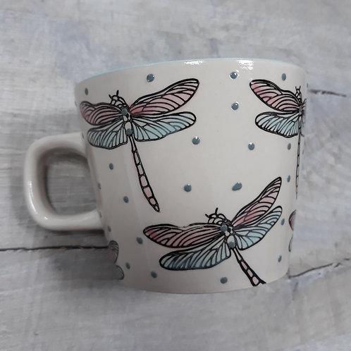 Dotty dragonfly mug