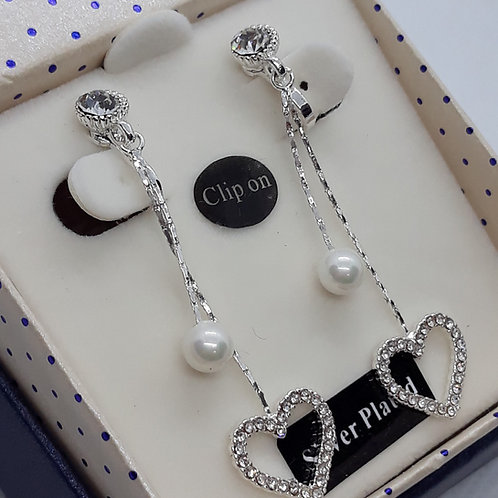 Heart and pearl drops