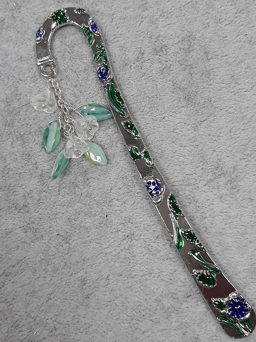 Enamel bookmark with beads