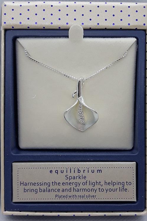Calla lily pendant and chain