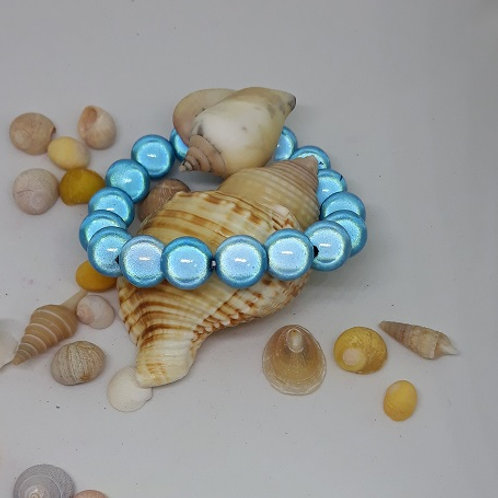Blue miracle bead bracelet