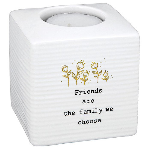 Thoughtful words tea light holder, Friends