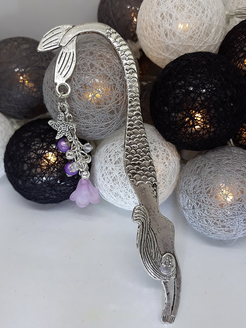 Mermaid bookmark with flower
