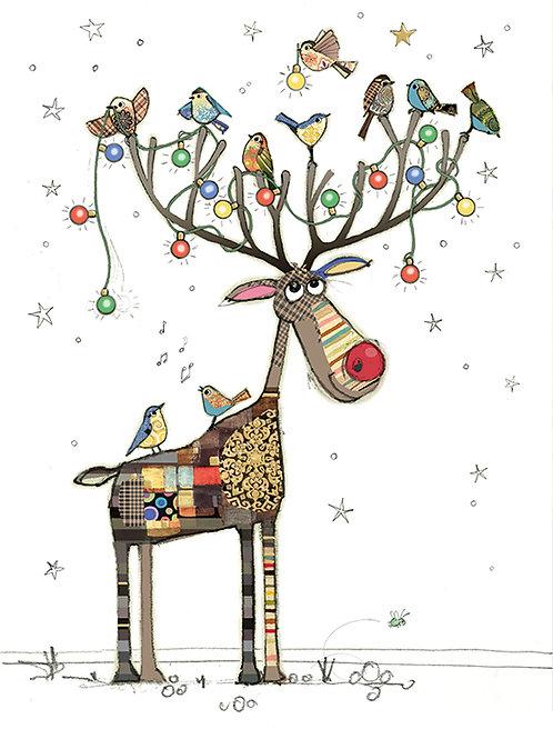 Rudolph perch Card