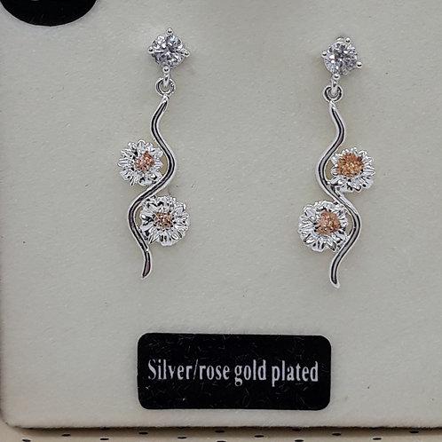 Botanical gerbera earrings