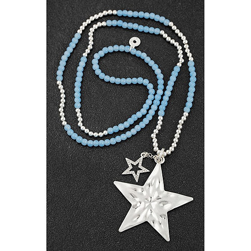 Beadz multi stars beaded necklace