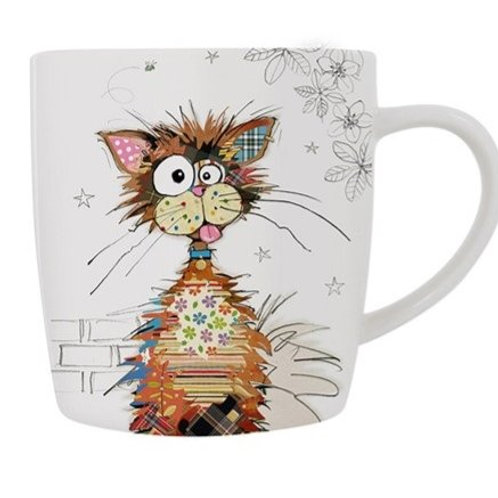 Bug Art Ziggy cat mug