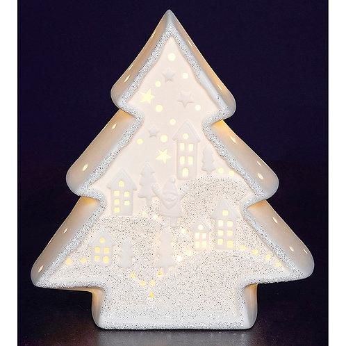 Christmas glow porcelain tree scene
