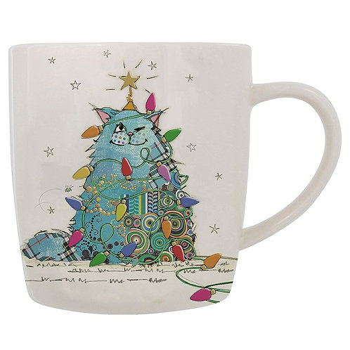 Christmas cat mug from Bug Art