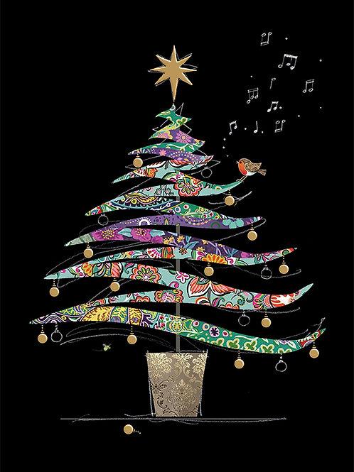 Colourful Christmas tree Card