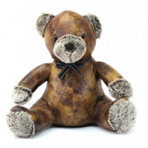 Faux leather Teddy doorstop