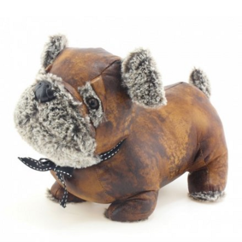 Faux Leather pug doorstop